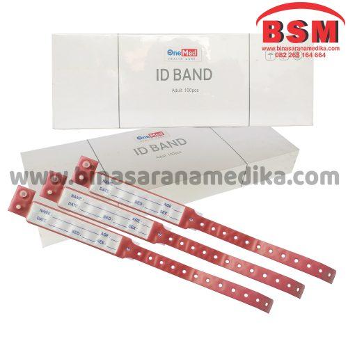 ID Band Dewasa Warna Merah One Med (Gelang Pasien Rumah Sakit)