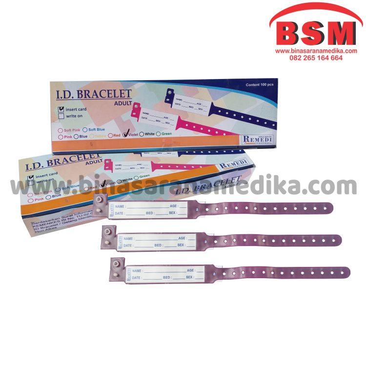 ID Band Dewasa Warna Ungu / Purple Remedi / Gelang Pasien