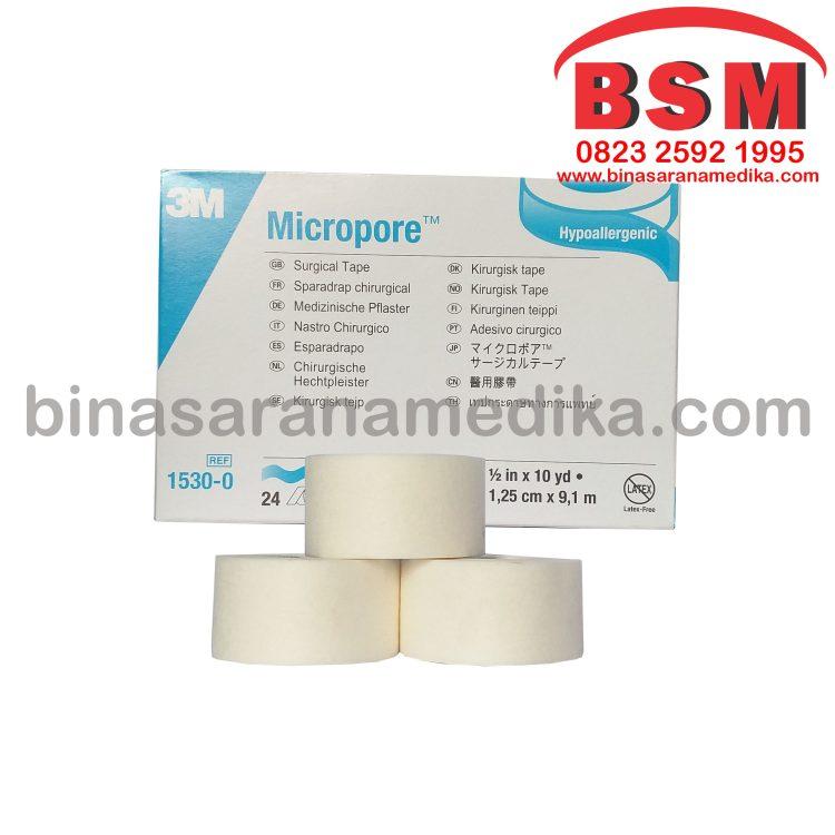 Micropore 1530-1 (Plester Kertas Bebas Latex)
