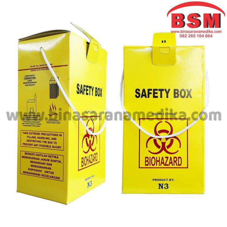 Safety Box Bio Hazard Kapasitas 5 Liter Kotak Limbah Medis