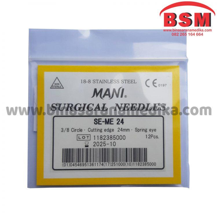Mani Surgical Needles SE-ME 24 Jarum Hecting Kulit Bedah Operasi