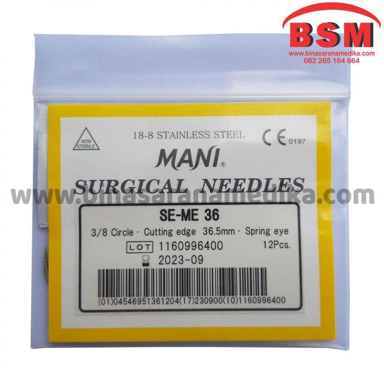 Mani Surgical Needles SE-ME 36 Jarum Hecting Kulit Bedah Operasi