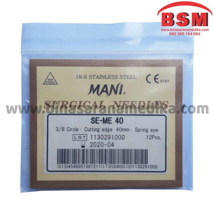 Mani Surgical Needles SE-ME 40 Jarum Hecting Kulit Bedah