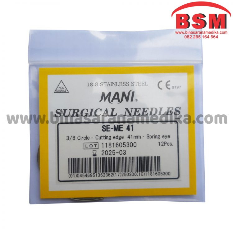 Mani Surgical Needles SE-ME 41 Jarum Hecting Kulit Bedah Operasi