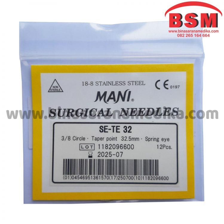 Surgical Needles SE-TE 32 Hecting Otot Jahit Bedah Operasi