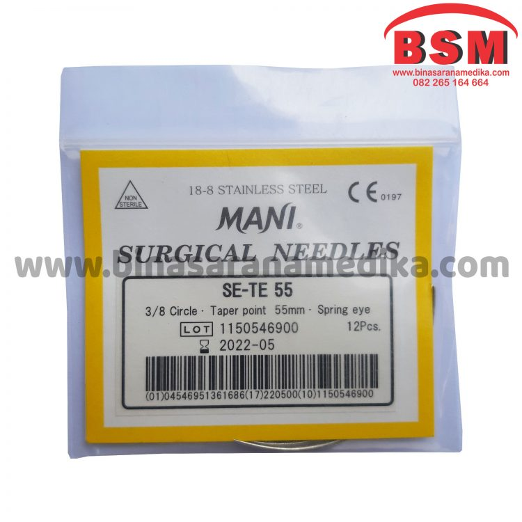 Surgical Needles SE-TE 55 Hecting Otot Jahit Bedah Operasi