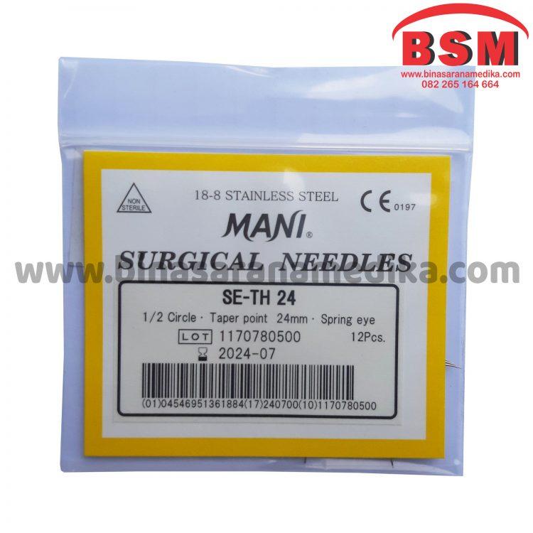 Mani Surgical Needles SE-TH 24 Hecting Otot Jahit Bedah Operasi