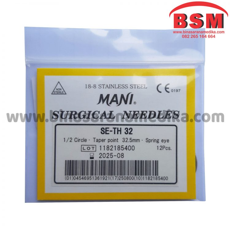 Mani Surgical Needles SE-TH 32 Hecting Otot Jahit Bedah Operasi