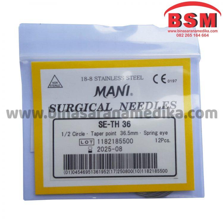 Mani Surgical Needles SE-TH 36 Hecting Otot Jahit Bedah Operasi