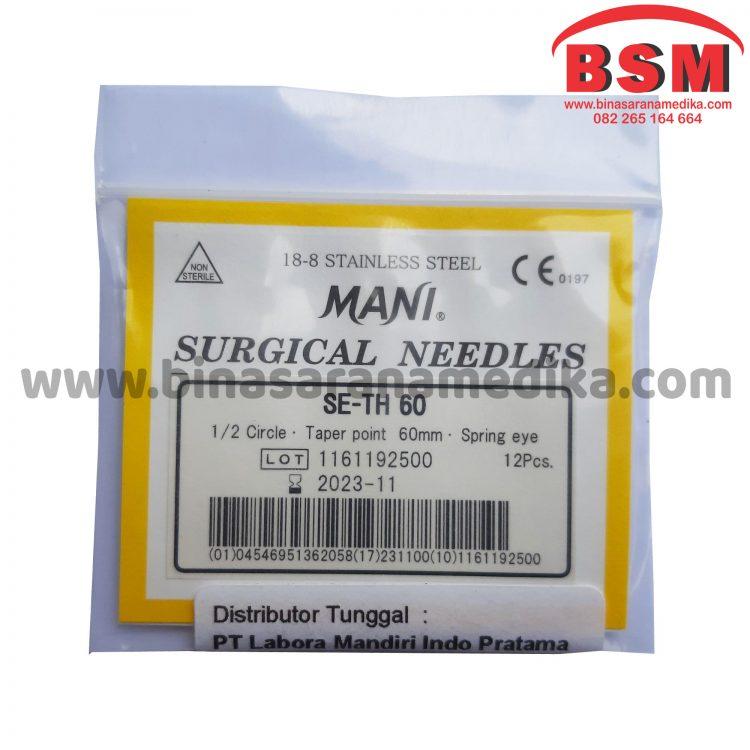 Mani Surgical Needles SE-TH 60 Hecting Otot Jahit Bedah Operasi