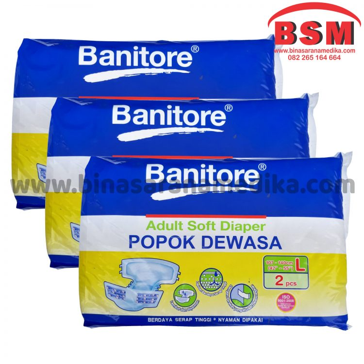 DIAPERS BANITORE ADULT L