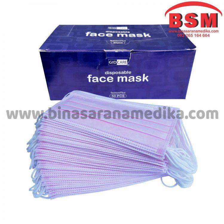 Masker Earloop Gidcare Pink